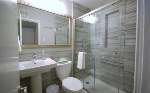 Brookwood-Courtyard-Condos-Bathroom-with-Glass-Shower-for-Two-by-BCA-Residential-Furnished-Apartment