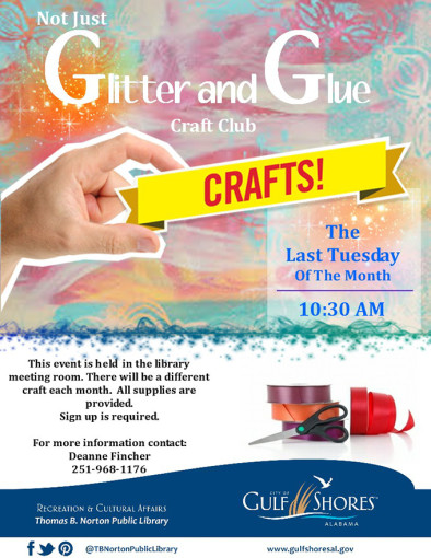 POSTPONED-Not Just Glitter and Glue Craft Club