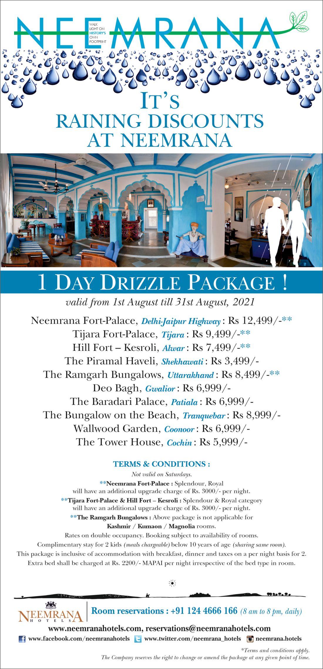 1 night monsoon package