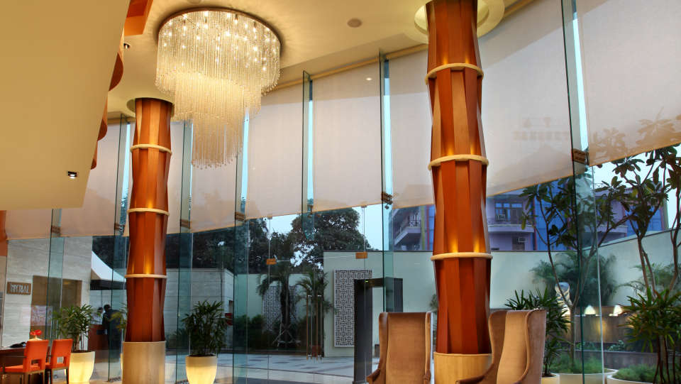 Lobby at Mahagun Sarovar Portico Vaishali, best hotels in vaishali 3