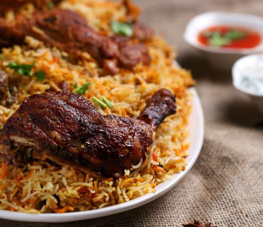 alt-text biriyani chicken, Indian Cuisine 1, Restaurant in Noida, The Hideaway