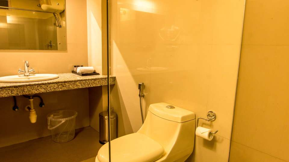 bathroom at Mount Himalayan Hotel and spa 2