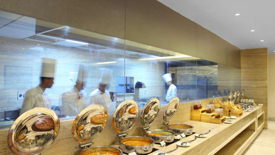 Restaurant at Hotel Seyfert Sarovar Portico Dehradun 3