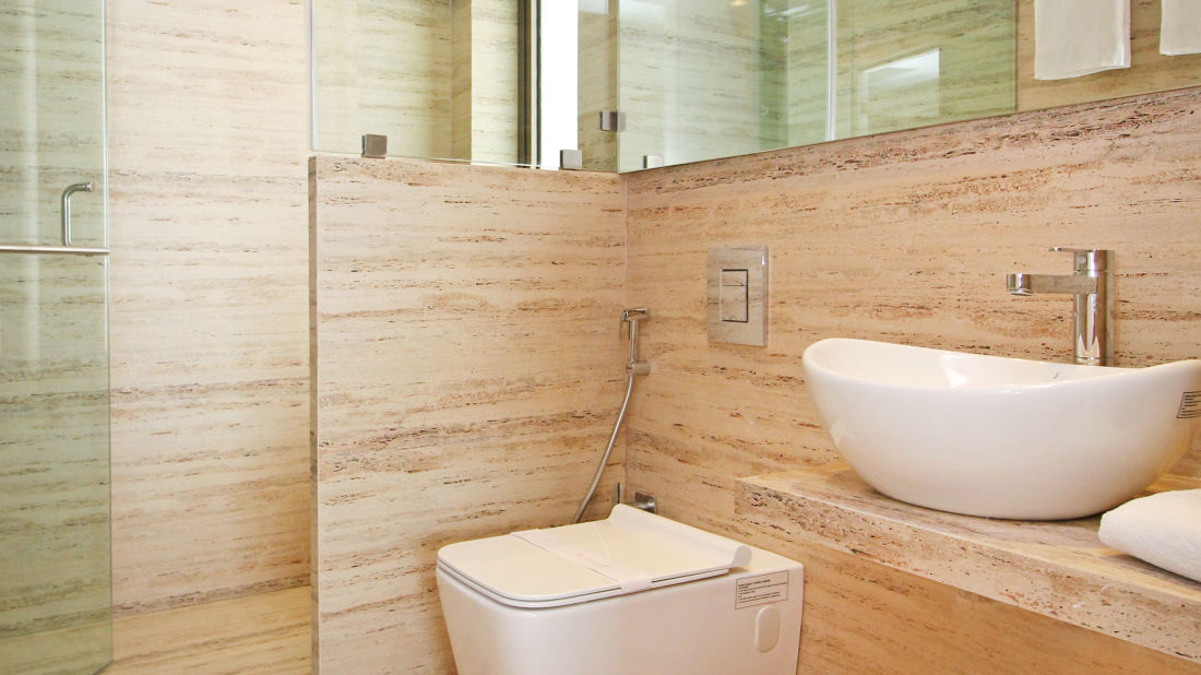 Bathroom 2, Serviced Apartments in Khar, Rooms in Khar, Hotels in Khar