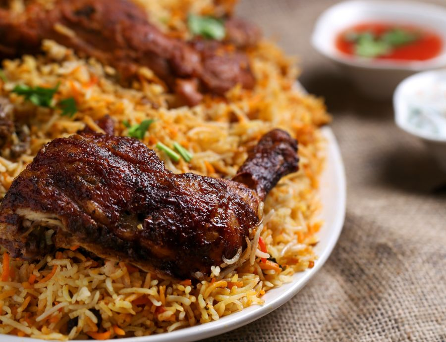 alt-text biriyani chicken, Indian Cuisine 1, Restaurant in Noida, The Hideaway