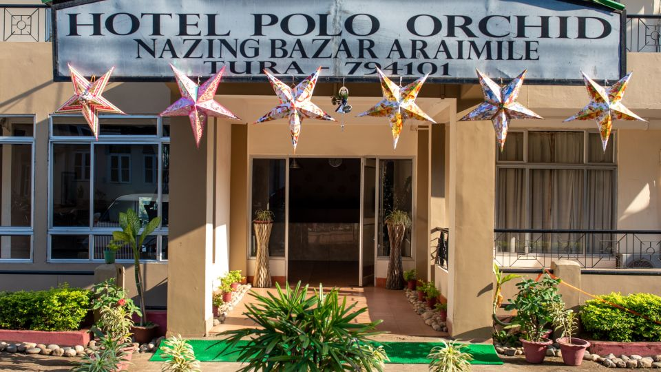 Entrance to our hotel in Meghalaya, Hotel Polo Orchid, Tura-12