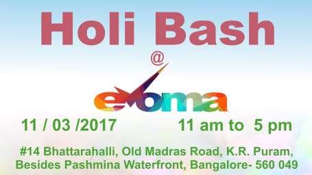 Evoma - Business Hotel, K R Puram, Bangalore Bangalore holi Bash Evoma Hotel Bangalore