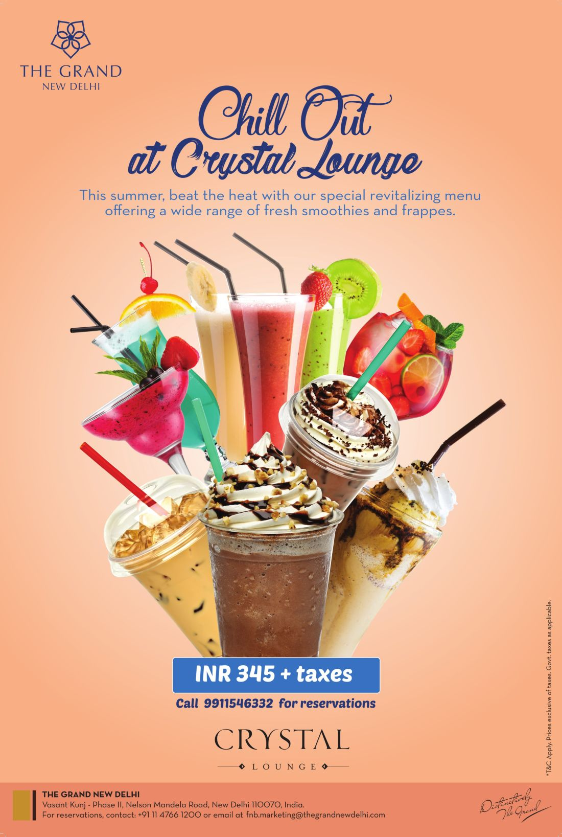 Summer Cooler Promotion at The Grand New Delhi Top Hotels in Delhi