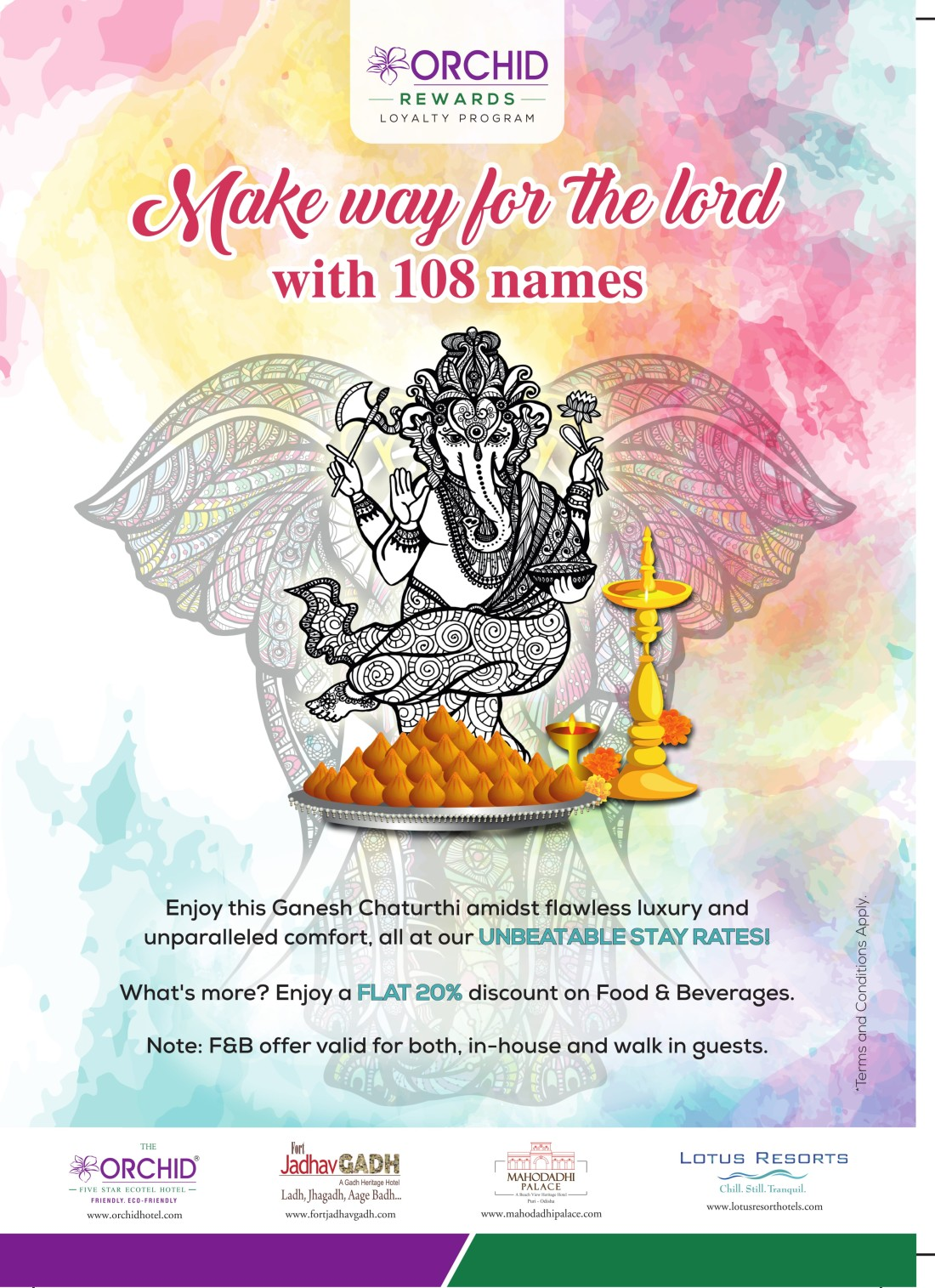 KHIL Ganesh Chaturthi 2x3 Sunboard Orchid-1