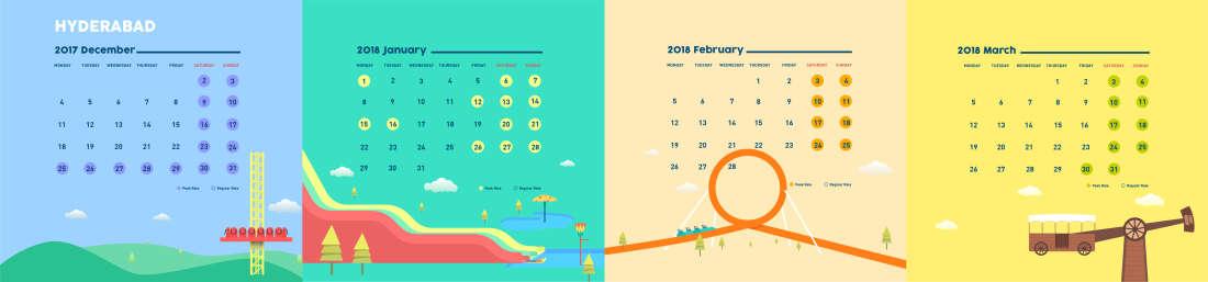 Hyderabad park calendar