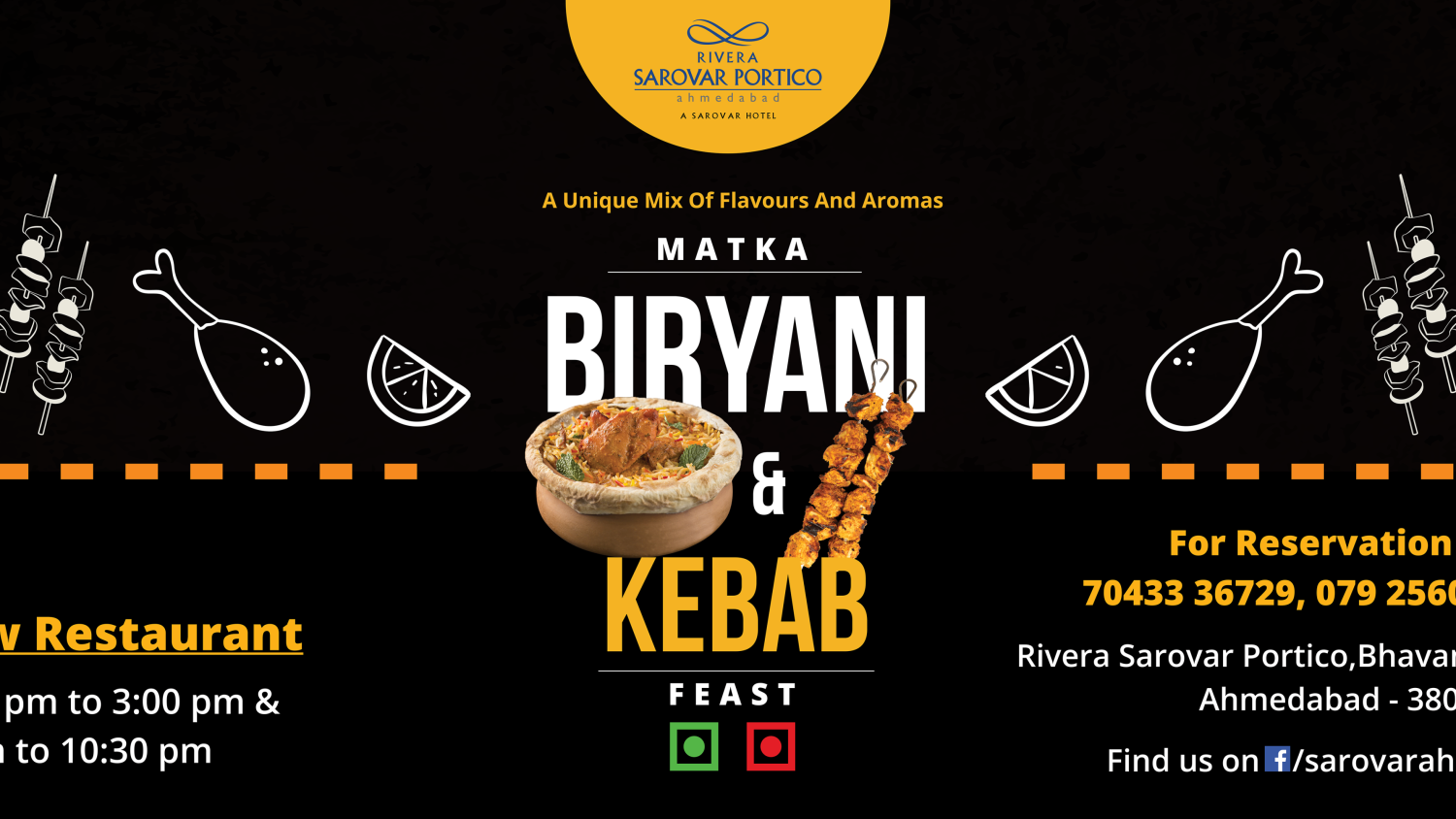 Matka Biryani & kebab Feast at Riveria Sarovar portico