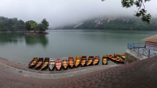 The Bungalows Lake Side, Naukuchiatal Naukuchiatal Landscape view of Bhimtal