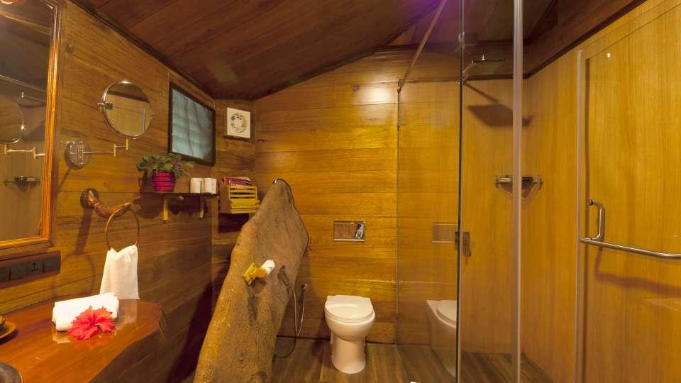 Tranquil Resort, Wayanad Wayanad Tree House Bathroom tranquil resort