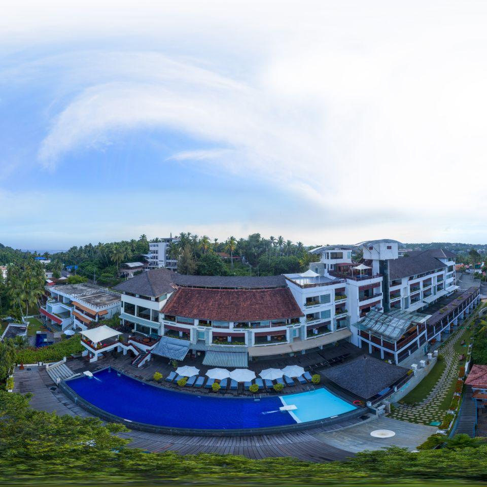 Aerial Poolside