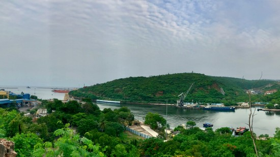 A view of Visakhapatnam Port Trust from Rose Hill 2