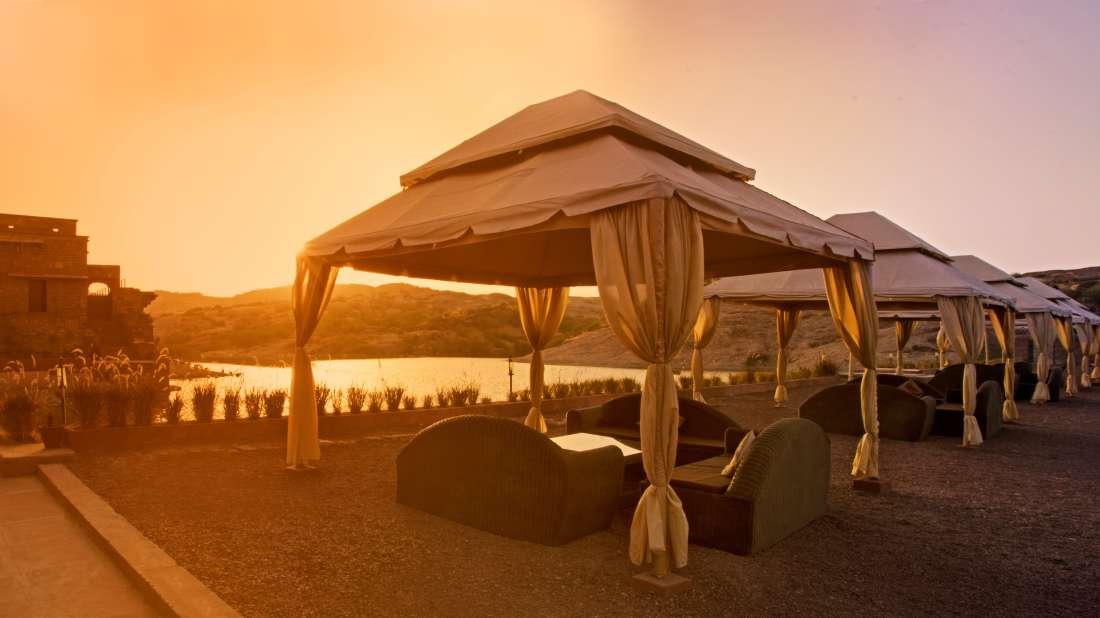 Bijolai Lake and Terrace Restaurant- Bijolai Palace Hotel, Outdoor Restaurants in Jodhpur 1