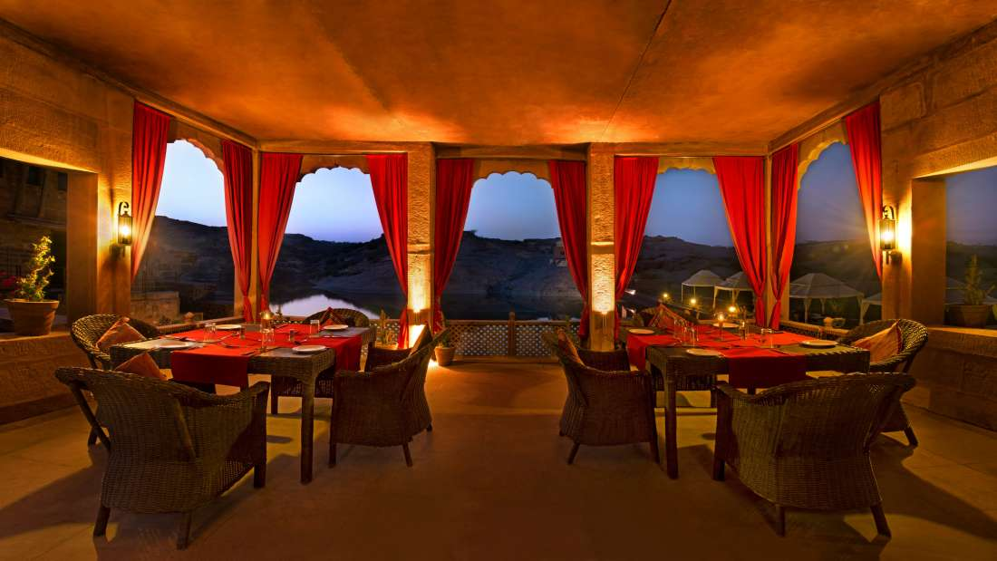 Bijolai Lake Terrace Restaurant at Bijolai Palace Hotel-Jodhpur Hotel