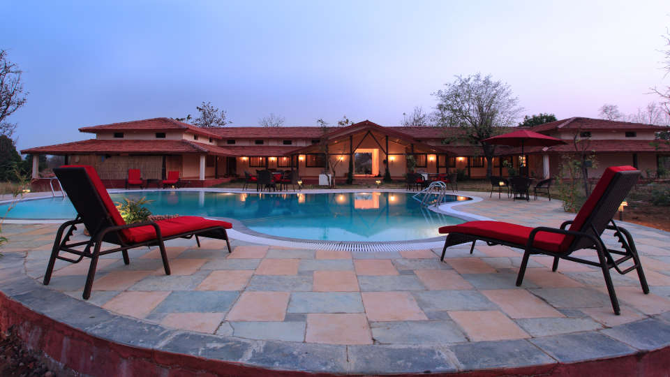 Swimming Pool at Infinity Resorts Kanha, Resort Facilities in Kanha 1