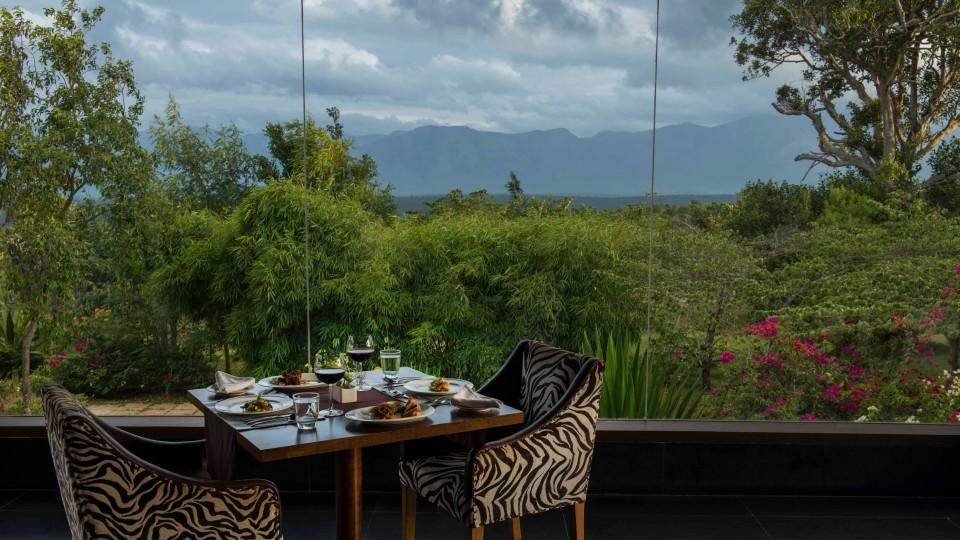 Restaurant at The Serai, Jungle safari at Bandipur, Honeymoon Resort In Bandipur, The Serai Bandipur 13