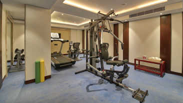 Gym at our hotel on MI Road, Golden Tulip Essential, Jaipur