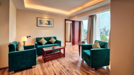 Living room area at our suites in Jaipur, Golden Tulip Essential, Jaipur