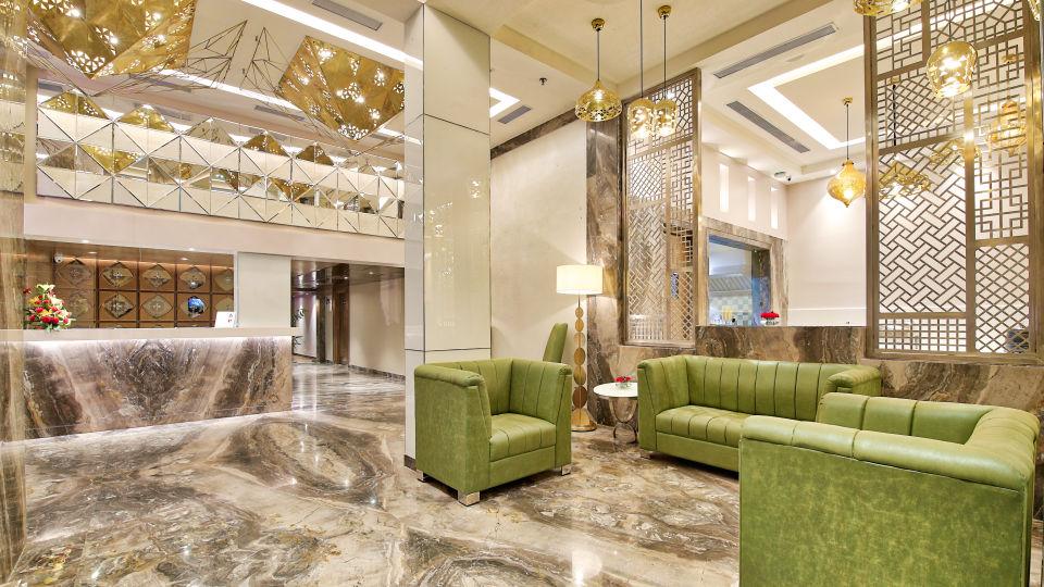 Lounge Area at our Hotel in Jaipur, Golden Tulip Essential, Jaipur