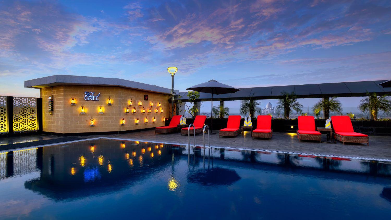 Swimming Pool at Crystal Sarovar Premier Agra 5 star hotels in Agra