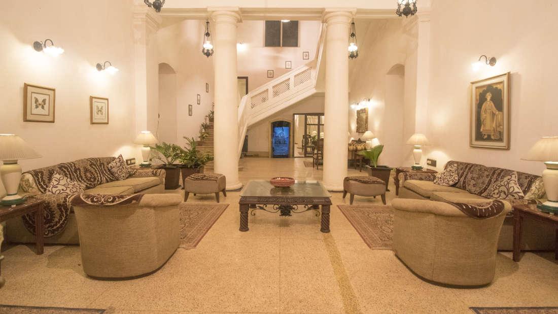 Lobby of Mahodadhi Palace - A Beach View Heritage Hotel Puri