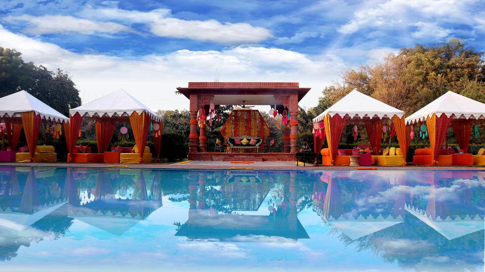 Poolside Mehndi Set Up - 4
