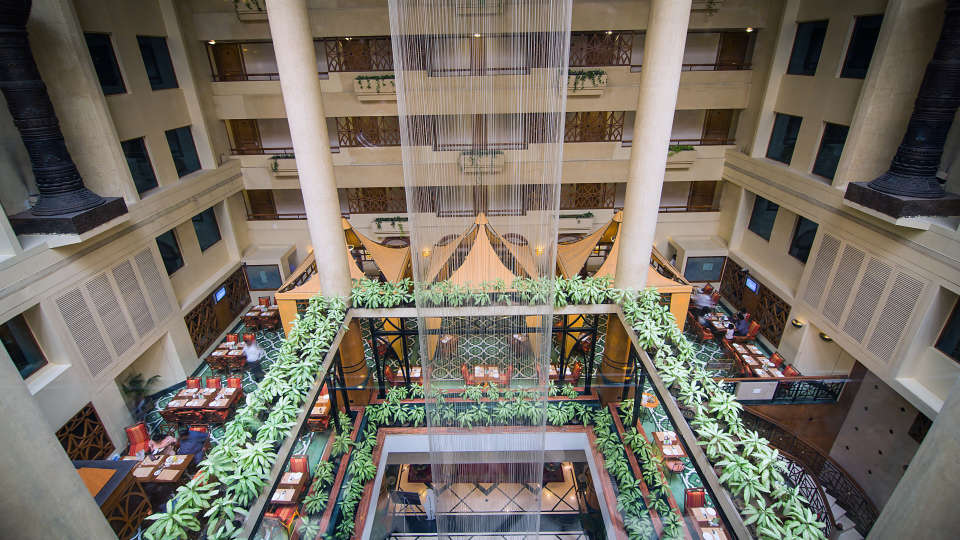 Lobby Fountain Top View, Orchid Hotel Mumbai Vile Parle, 5 Star Hotel in Vile Parle