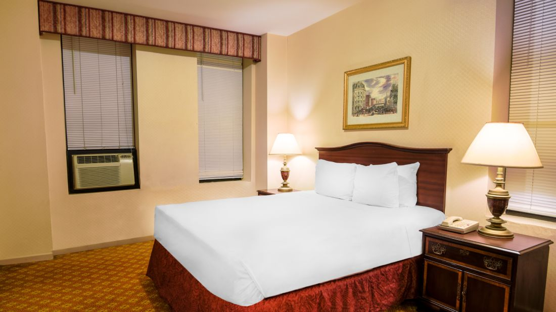 Enjoy a comfortable sojourn within the Standard Queen Bedroom at Night Hotel Broadway