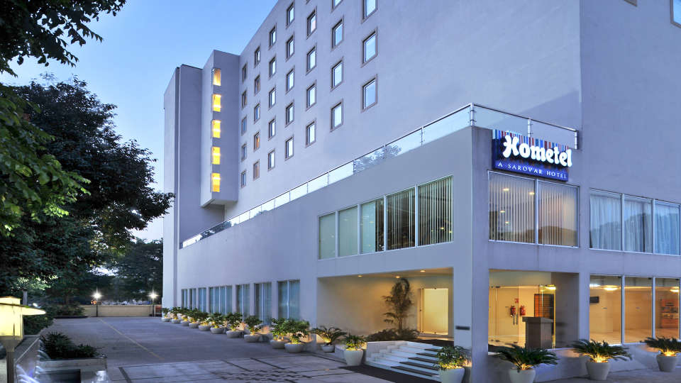 Facade at Hometel Chandigarh, Hotels near Chandigarh Railway Station