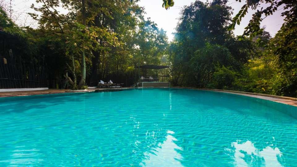 Swimming pool at Reni Pani Jungle Lodge- near Satpura National Park 2dadv