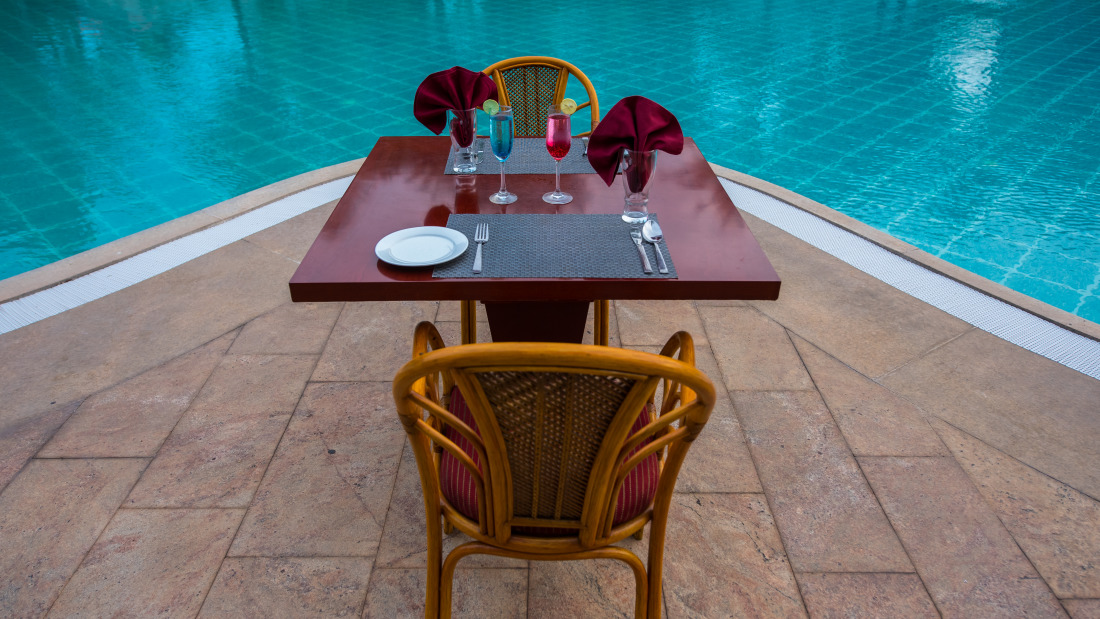 romance by the pool at Chariot Beach Resort in Mahabalipuram 9