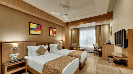 Executive Twin Bed at Anaya Beacon Hotel in Jamnagar 2