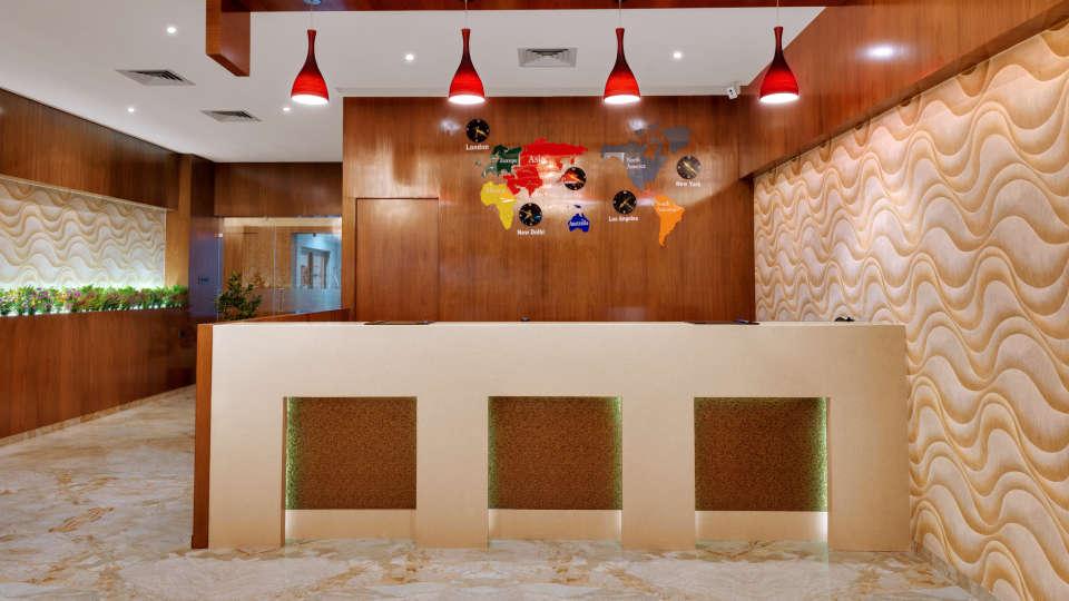 Lobby of Anaya Beacon Hotel in Jamnagar 2