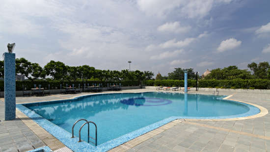Pool at Clarks Avadh, hotel near gomti river in Lucknow,  hotels in lucknow