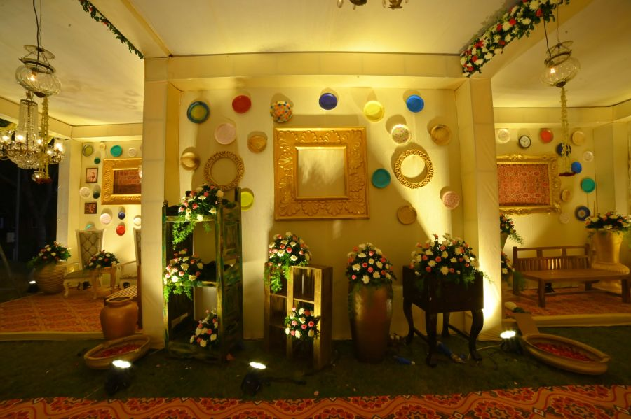 alt-text event decorations at Narayani Heights hotel, banquet hall in ahmedabad 2