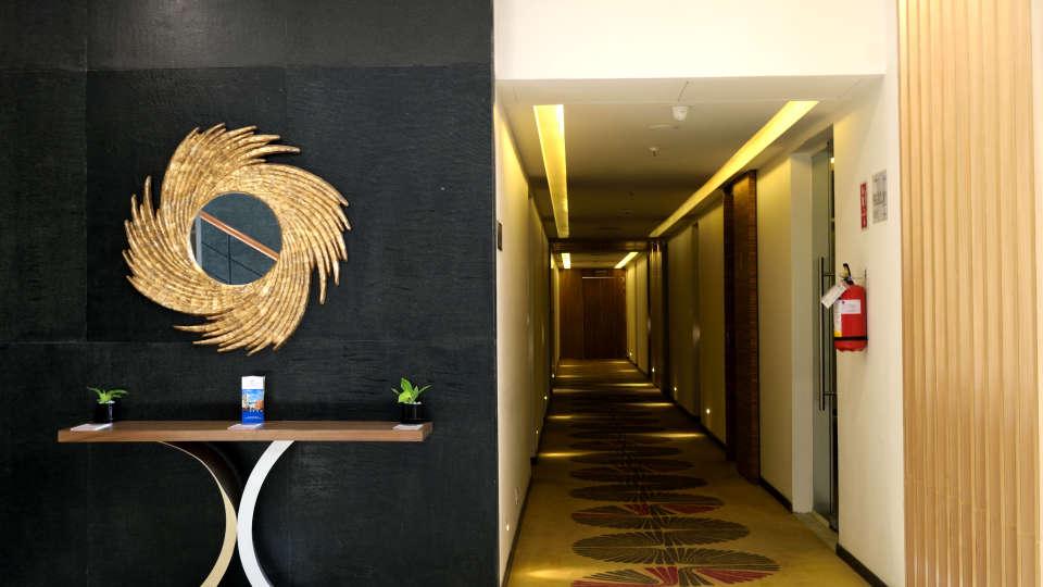 Corridor at RBD Sarovar Portico Bangalore, best bangalore hotels