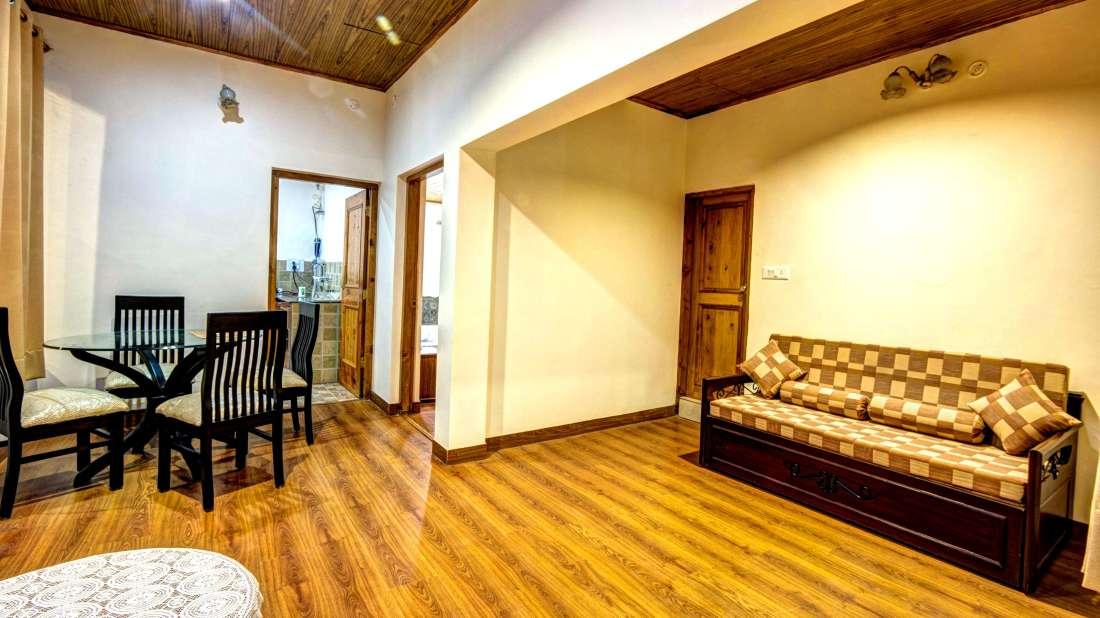 Baragarh Villa Kullu Family Suite sitting area Baragarh Villa Kullu Himachal Pradesh