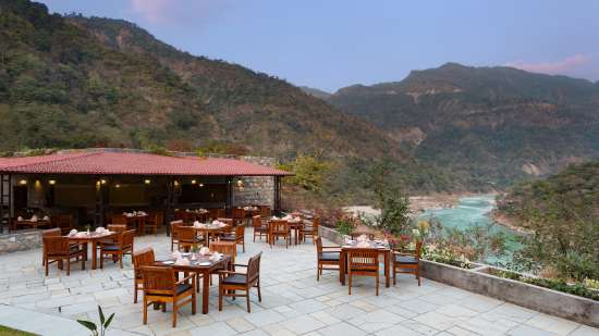Aloha On the Ganges Rishikesh outdoor restaurant 1