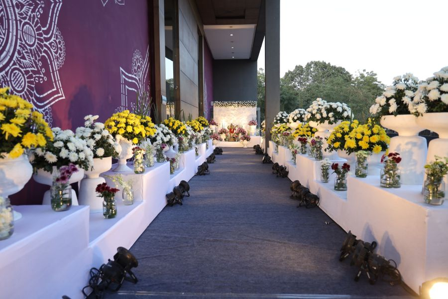 alt-text event decorations at Narayani Heights hotel, banquet hall in ahmedabad 12