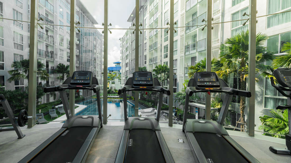 Gym at AHA Smatstay- Best hotel in Pattaya