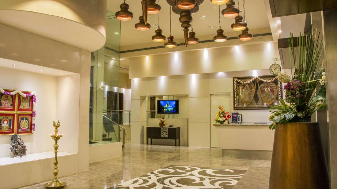 Hotel Bliss Luxury Hotel in Tirupati Online Booking reception 2