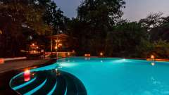 Swimming pool at Reni Pani, Jungle Lodge Near Satpura National Park