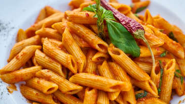 Canva - Pasta With Green Leaf And Chili Pepper