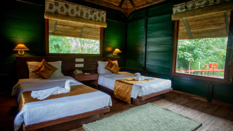 Stay near Panna Tiger Reserve 3, Luxury Huts, Tendu Leaf Jungle Resort