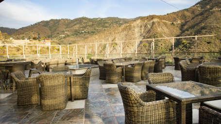 Deck open air restaurant Timber Trail Resort Parwanoo 3