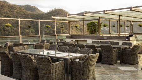 Deck open air restaurant Timber Trail Resort Parwanoo 4