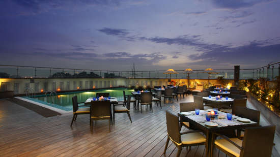 Terrace Grill at Mahagun Sarovar Portico Vaishali, ghaziabad hotels 4